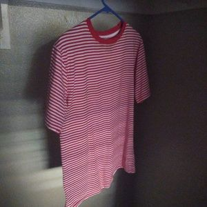 Red striped short sleeve